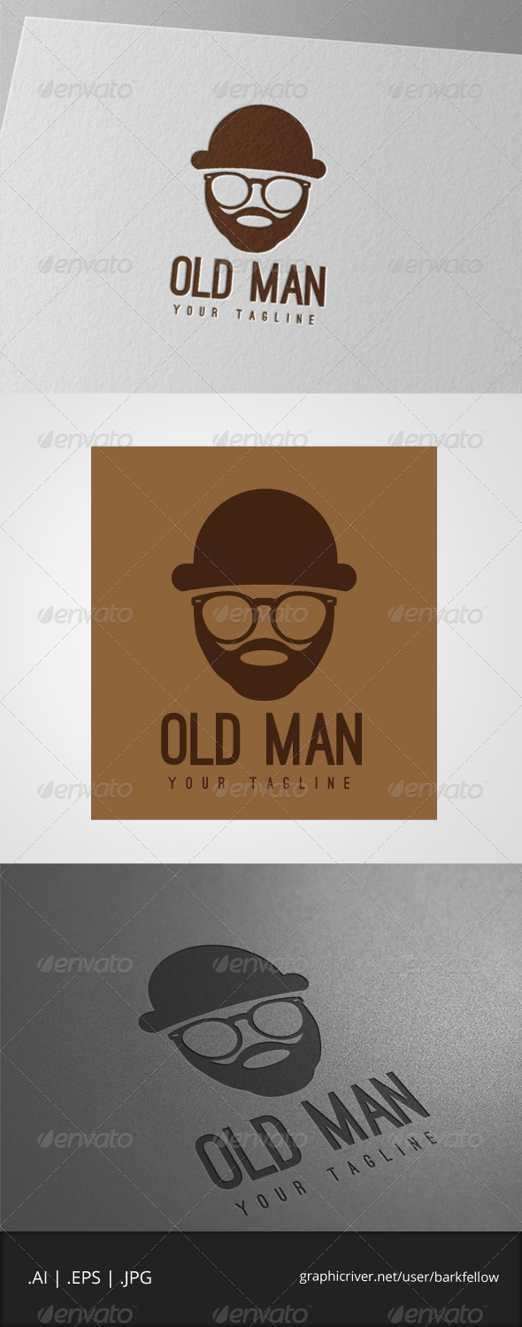 GraphicRiver Old Man with Glasses Logo 7749611