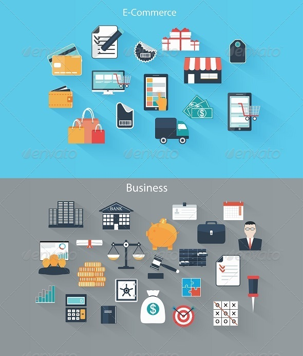 GraphicRiver Set of Flat Icons for Web and Mobile Devices 7749684
