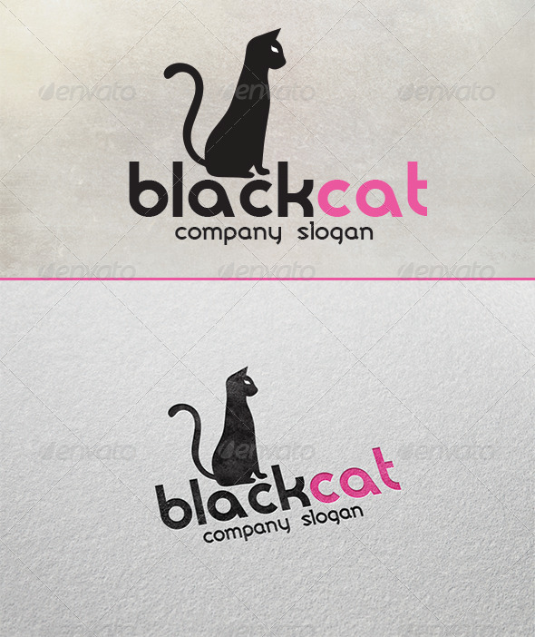 GraphicRiver Black Cat Logo 7730171