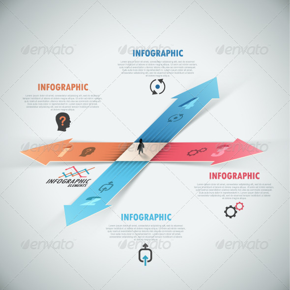 GraphicRiver Modern Infographic Options Banner With Arrows 7750635