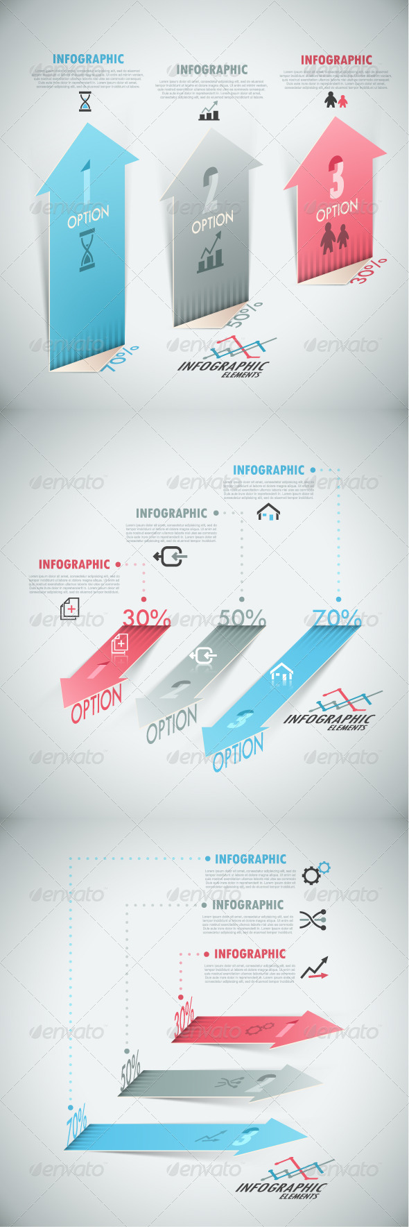 GraphicRiver Modern Infographic Options Banner 3 Versions 7750649