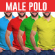Male Polo Shirt Mock-Ups - GraphicRiver Item for Sale