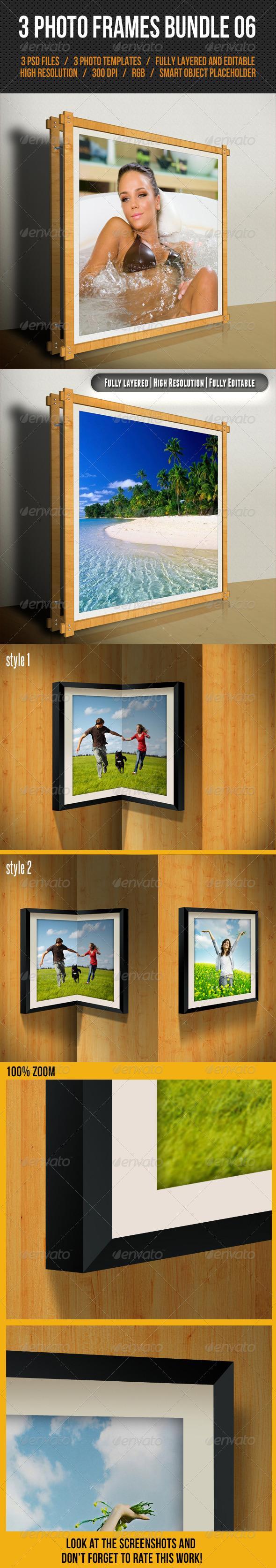 GraphicRiver 3 Photo Frames Bundle 06 7750729