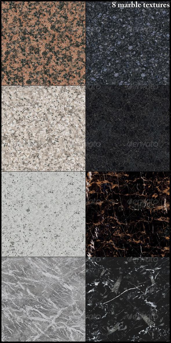 3DOcean 8 marble textures 7750829