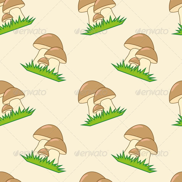GraphicRiver Mushrooms Seamless Texture 7750877