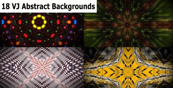 VJ Abstract Backgrounds 18 Pack