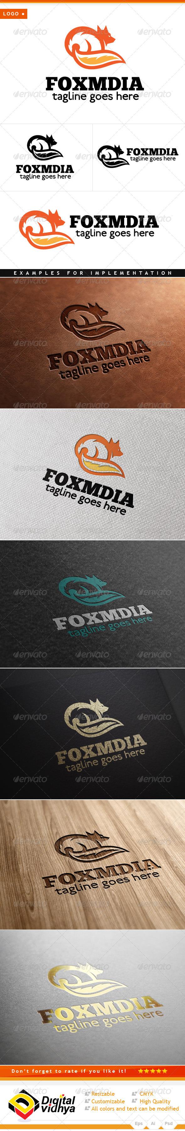 GraphicRiver Fox Art Vector Logo 7751273