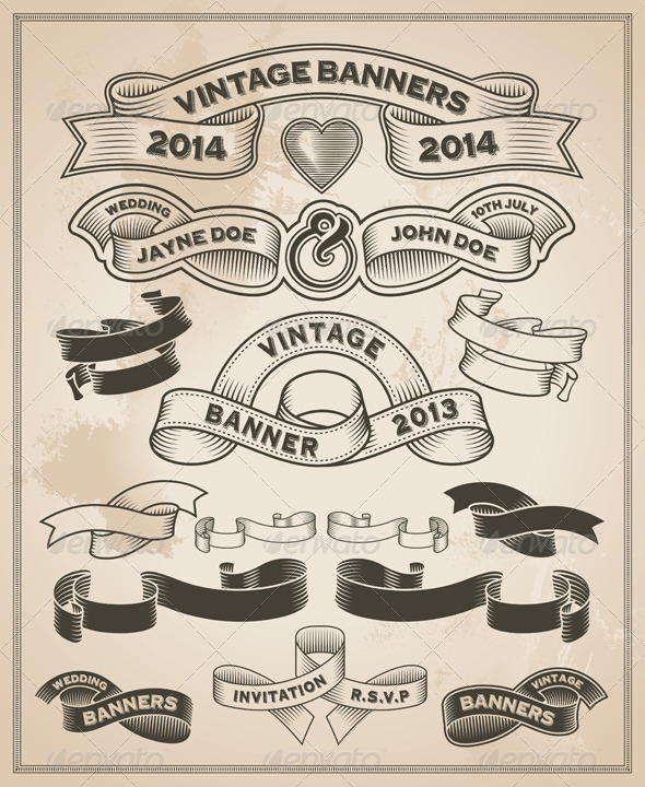 GraphicRiver Vintage Scrolls and Banners Set 2 7751342