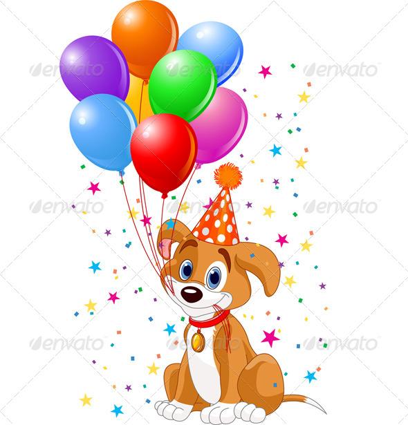 GraphicRiver Birthday Puppy 7751388