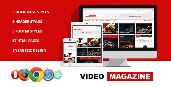 Video Magazine - HTML Magazine Template