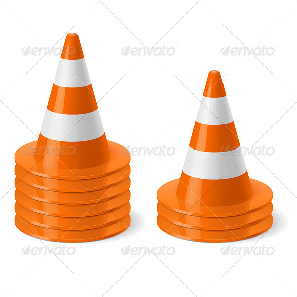 GraphicRiver Piles of Road Cones 7751749