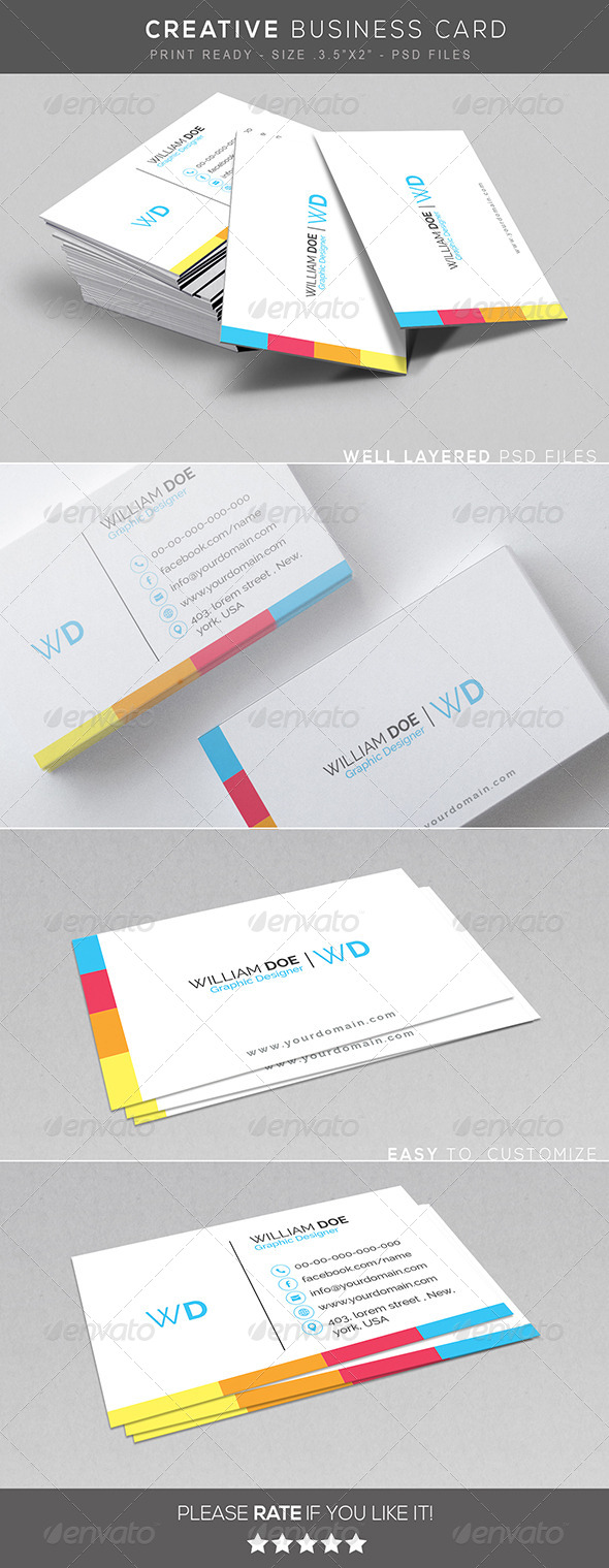 GraphicRiver Creative Corporate Business Card 7751805