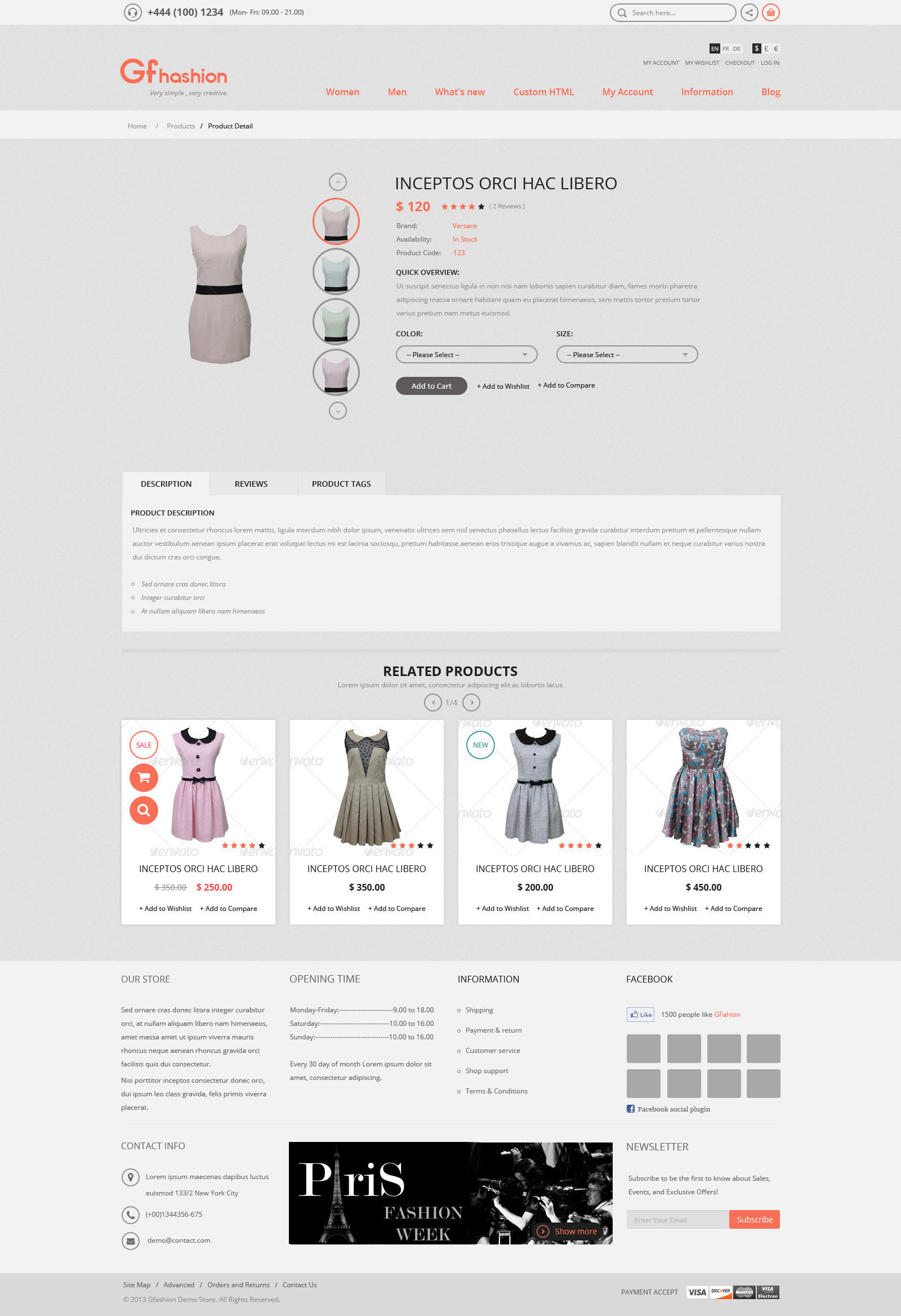 GFashion- Responsive Magento Theme