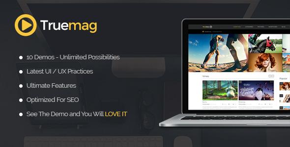 True Mag - WordPress Theme for Video and Magazine - Blog / Magazine WordPress