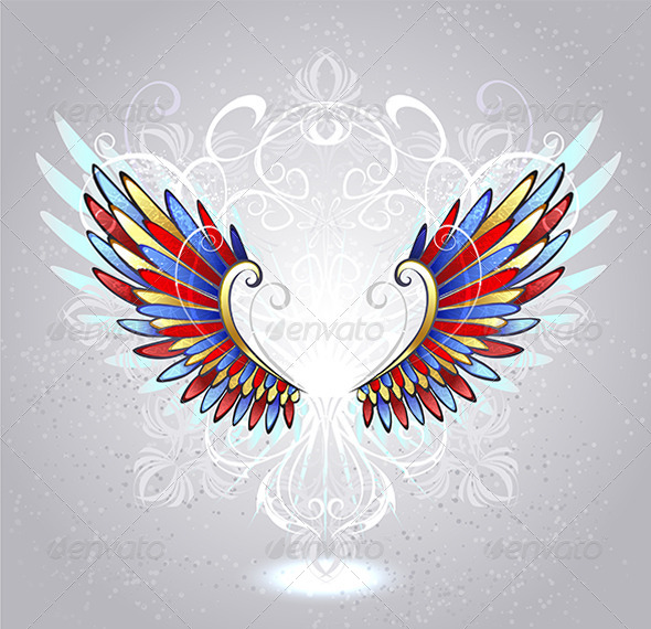 GraphicRiver Stained Glass Wings 7751965