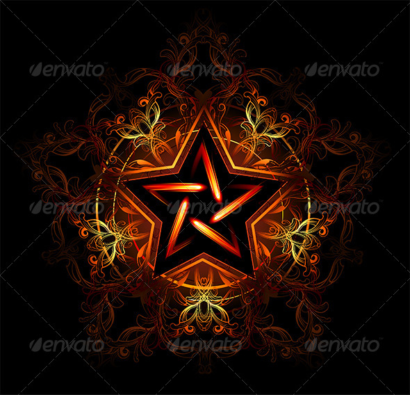 GraphicRiver Mystical Fiery Star 7752005