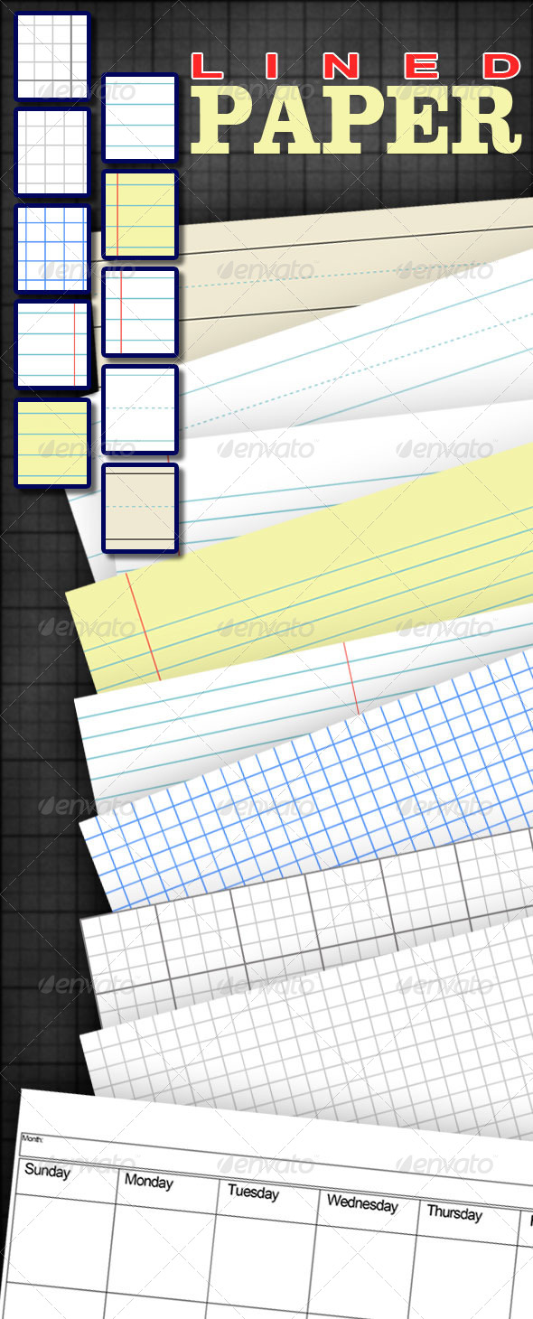 GraphicRiver Lined Paper 7752025
