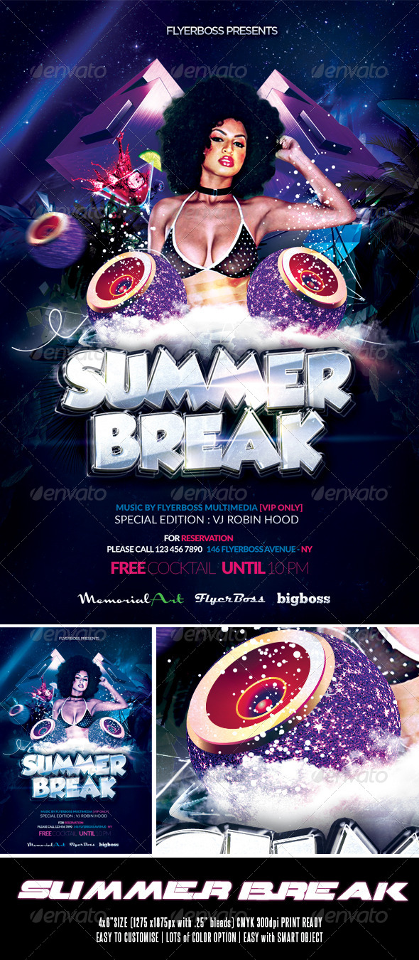 GraphicRiver Summer Break Flyer 7752045