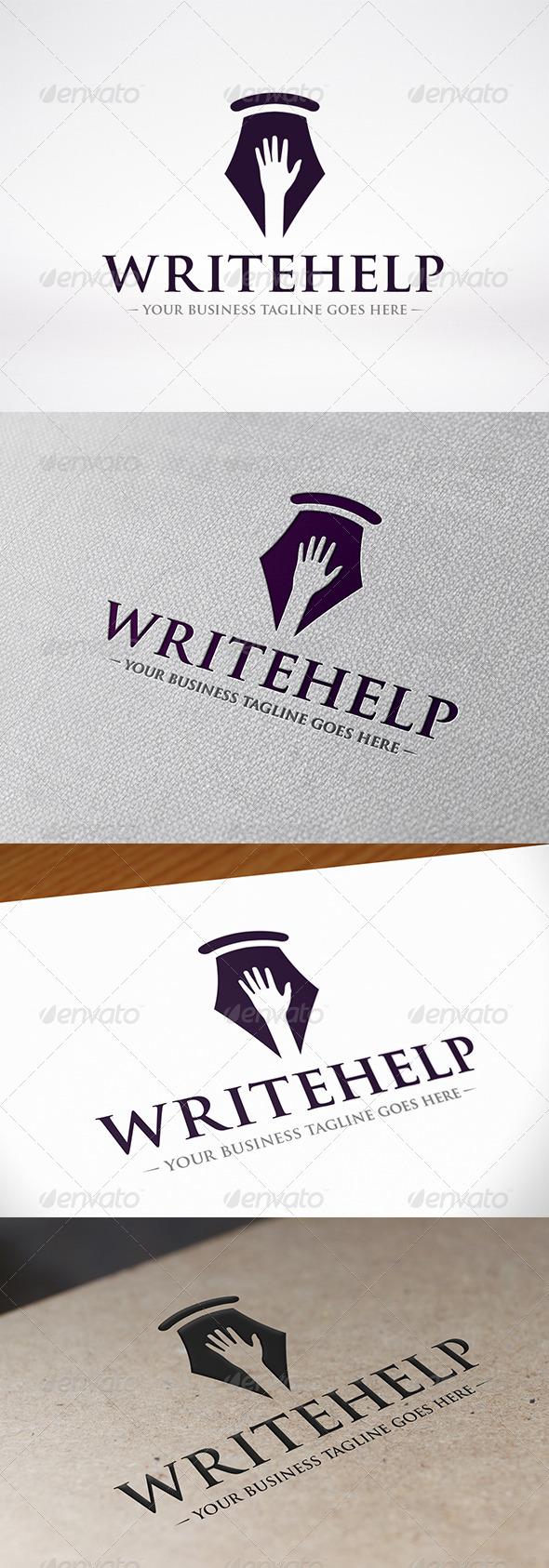 GraphicRiver Write Help Logo Template 7752495