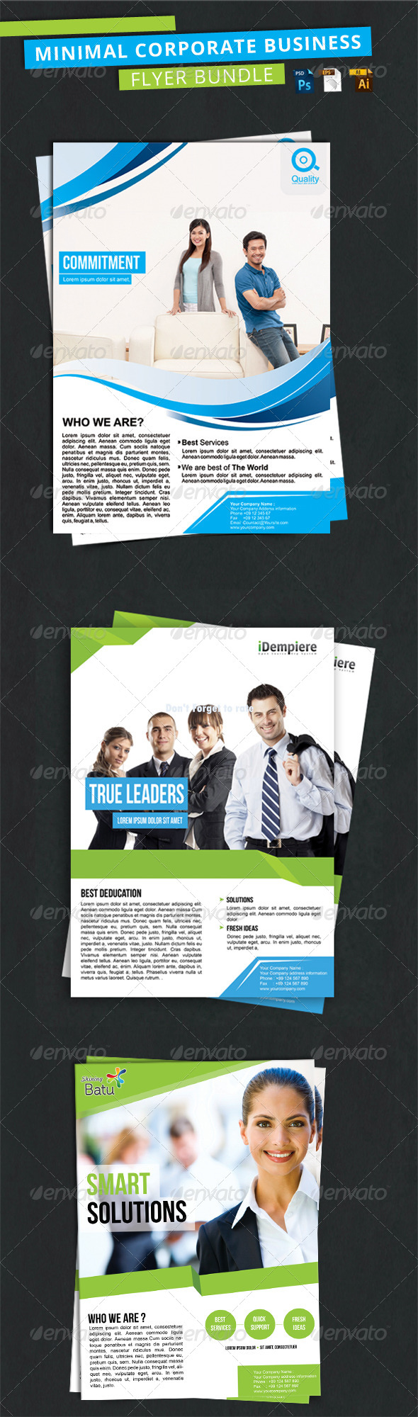 GraphicRiver Minimal Corporate Business Flyer Bundle 7731857