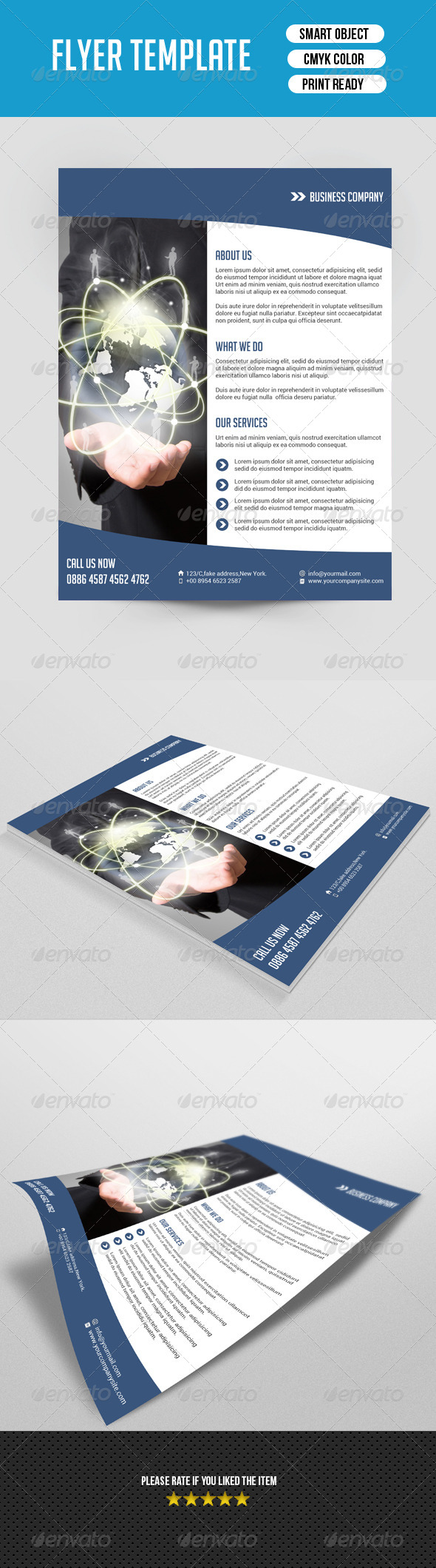 GraphicRiver Minimal Business Flyer-V02 7752651