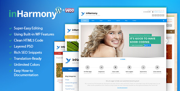 inHarmony - Responsive Multi-Purpose WP Theme