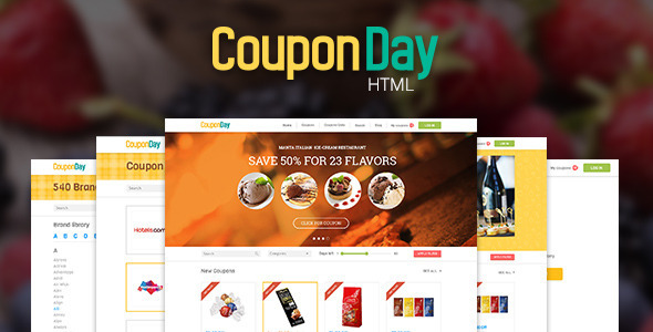 CouponDay - Clean and Premium Coupon Template - Miscellaneous Site Templates