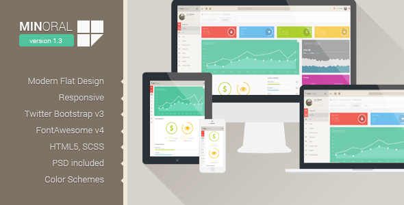 Minoral - Responsive Admin Template - Admin Templates Site Templates