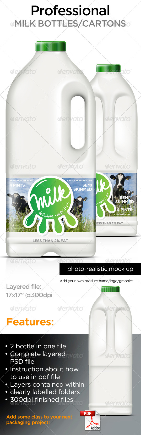 GraphicRiver Plastic Milk Bottles 7753841
