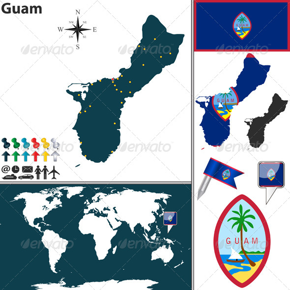 GraphicRiver Map of Guam 7753970