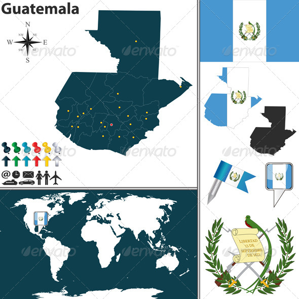 GraphicRiver Map of Guatemala 7753983