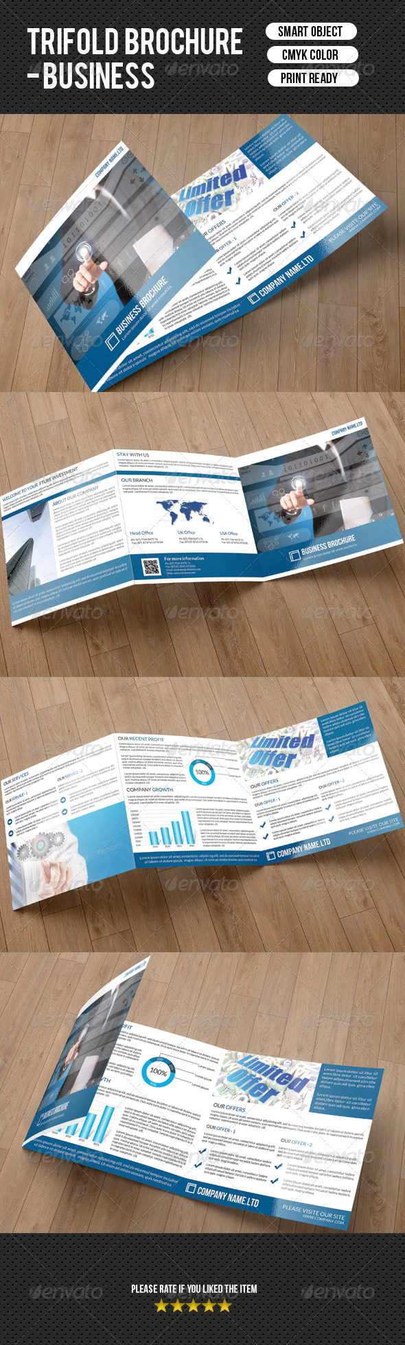 GraphicRiver Square Business Trifold-V01 7754123