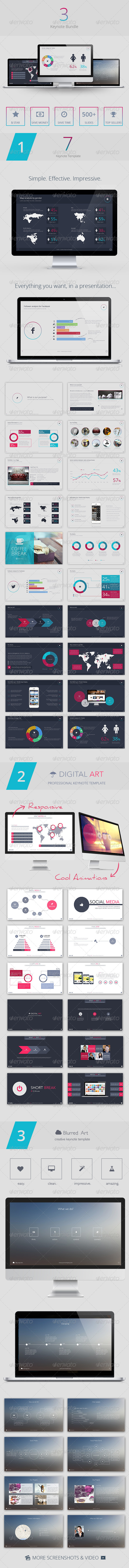 GraphicRiver 3 Keynote Bundle 7754350