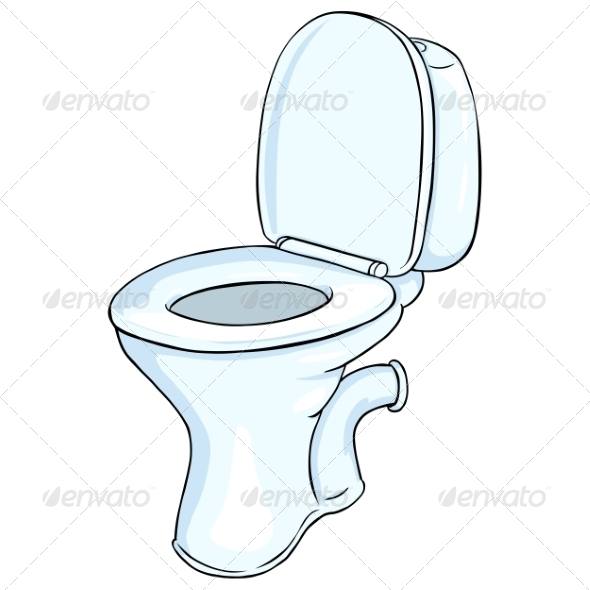 Vector Cartoon Toilet Pan