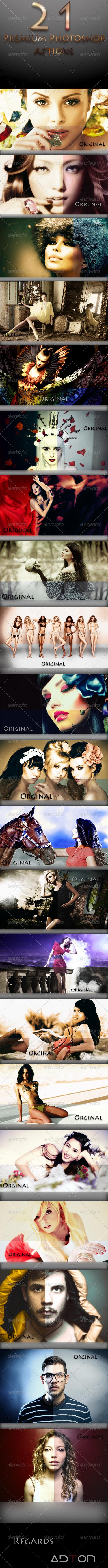 GraphicRiver 21 Premium Photoshop Actions 7754355