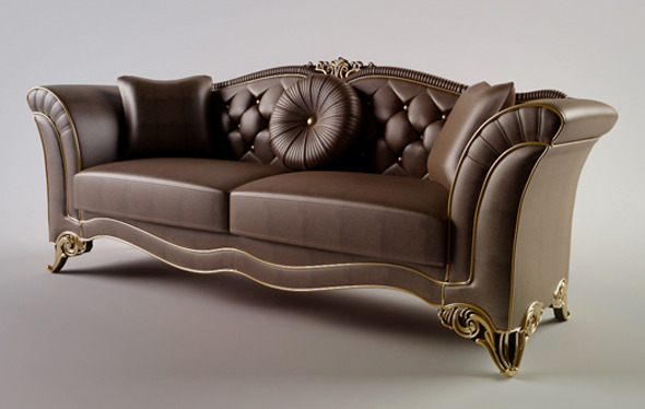 Classic Sofa - 3DOcean Item for Sale