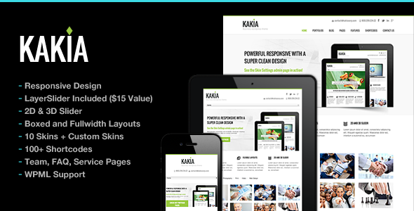 Kakia Multi-Purpose Business Corporate Theme - Business Corporate
