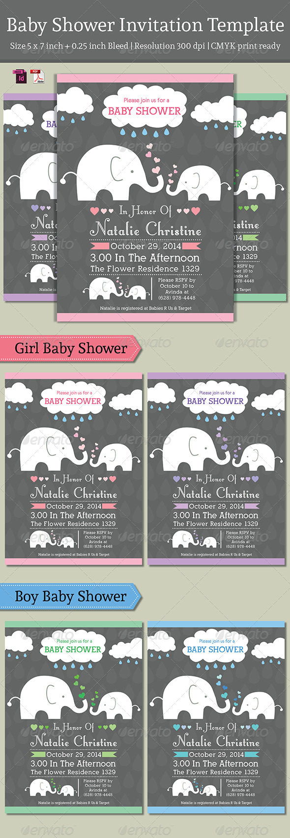 GraphicRiver Baby Shower Template Vol 3 7718300