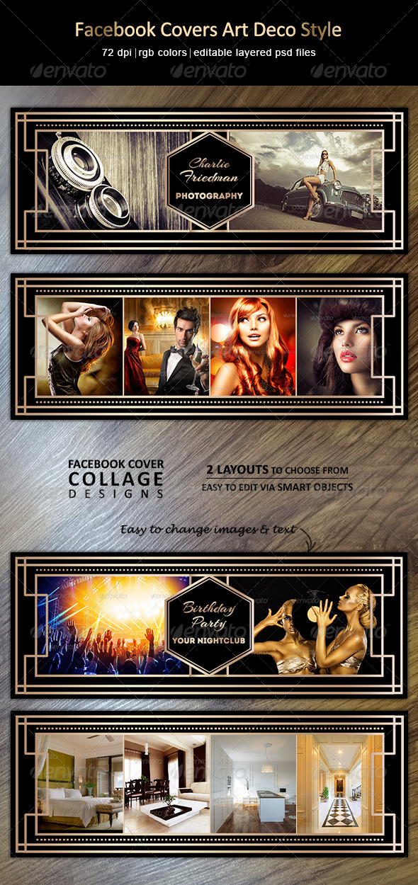 GraphicRiver Facebook Covers Art Deco Style 7755089