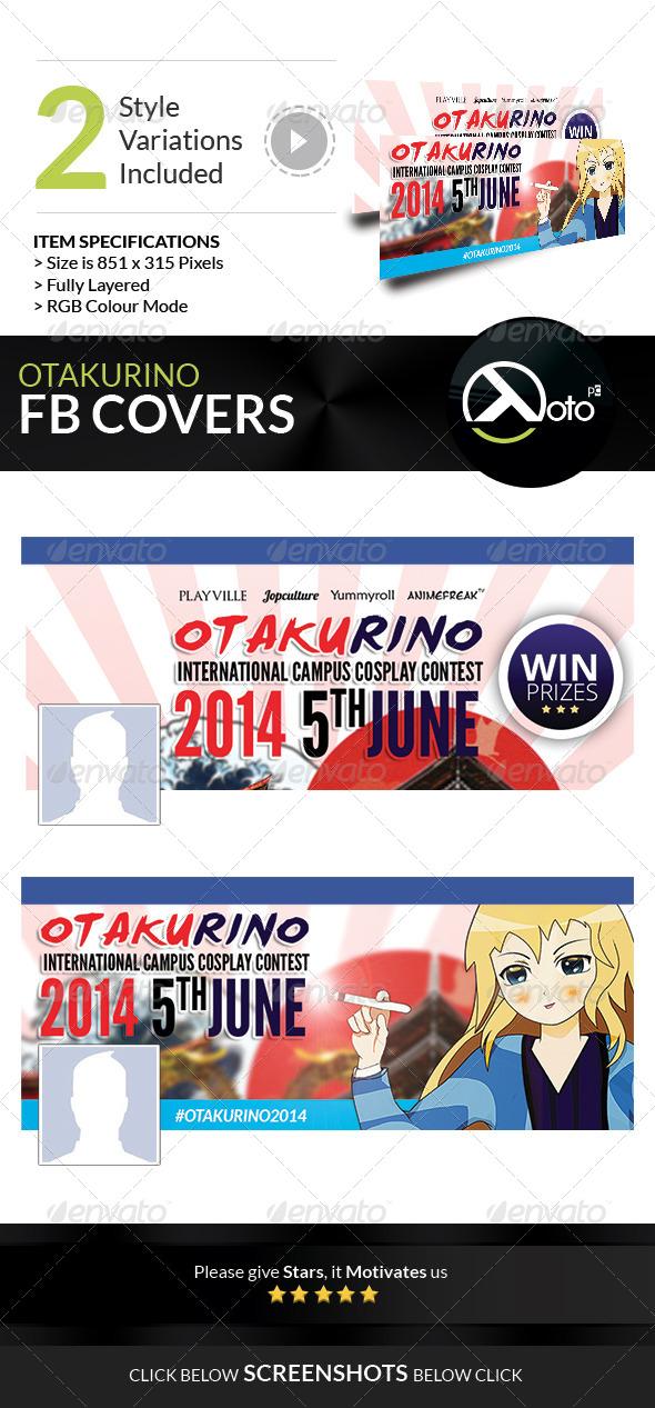 GraphicRiver Otakurino International Cosplay Contest FB Cover 7755092