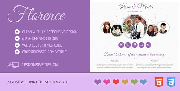 Florence - Responsive Wedding Site Template - Wedding Site Templates