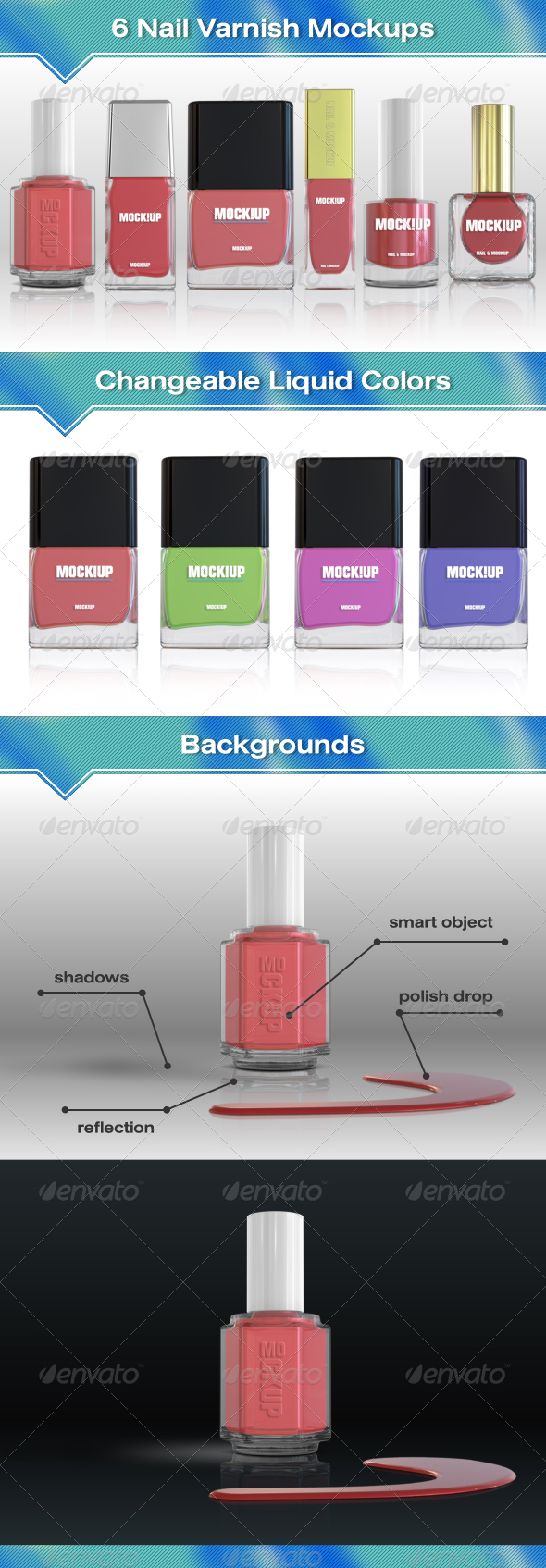 GraphicRiver 6 Nail Polish Mockups 7755173