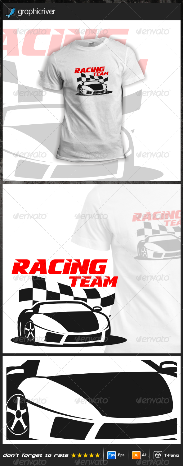 GraphicRiver Racing Team T-Shirts 6323085
