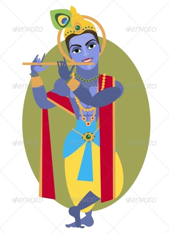 GraphicRiver Lord Krishna Flute 7755232