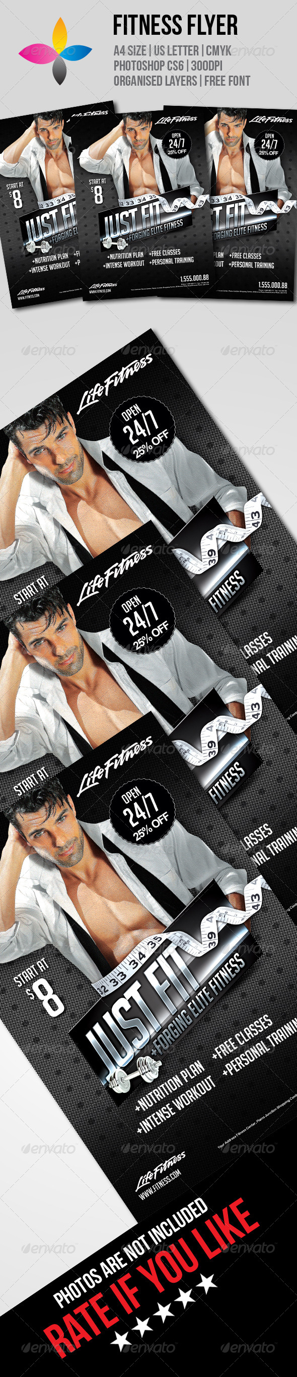 GraphicRiver Fitness Flyer 7755258