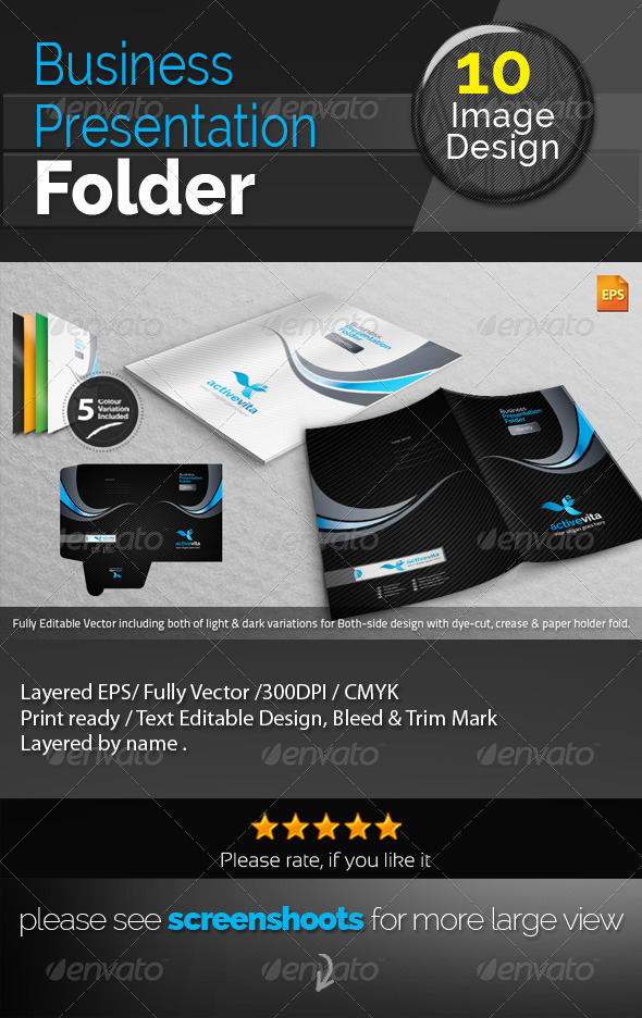 GraphicRiver Corporate Activevita Presentation Folder 7755303
