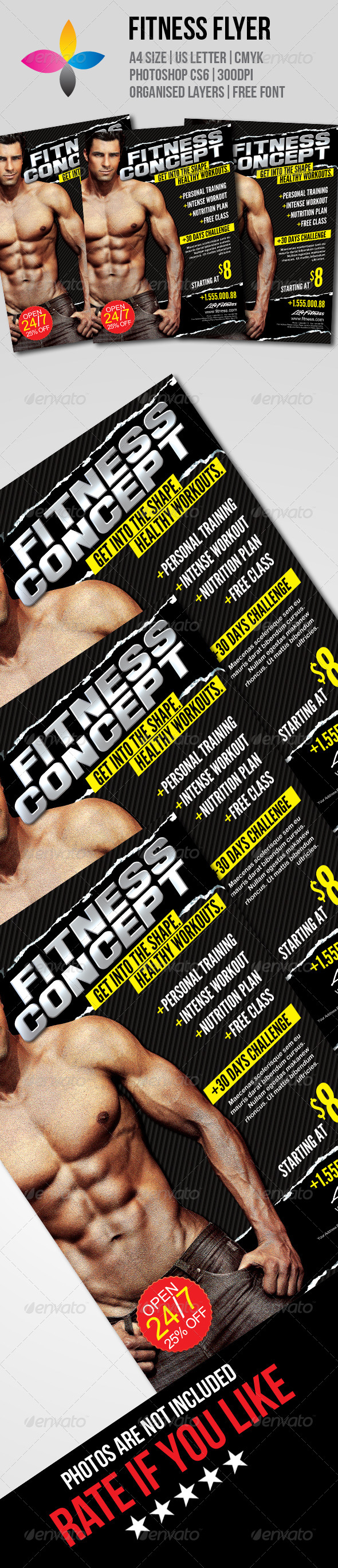 GraphicRiver Fitness Flyer 7755345