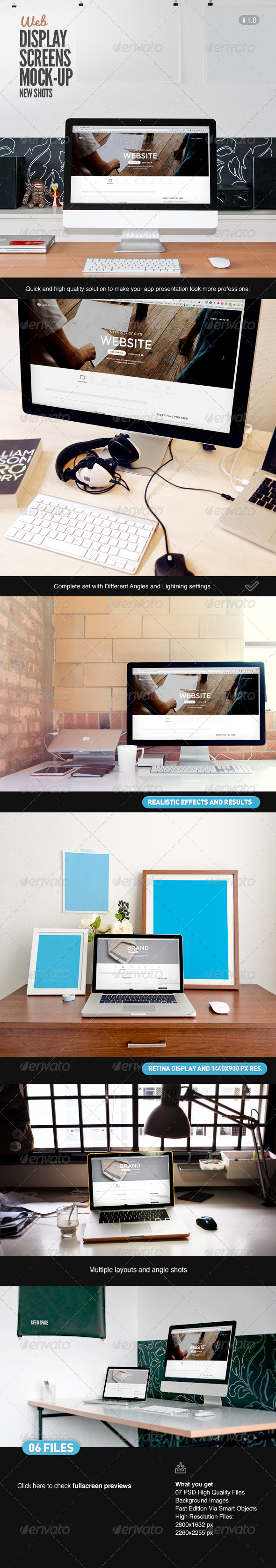 GraphicRiver Display Screen Web Mock-Up 7755642