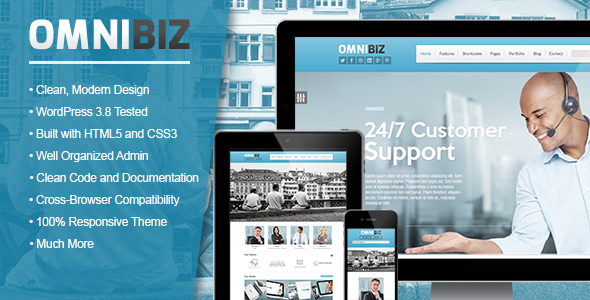 Omnibiz - Elegant Corporate WordPress Theme - Business Corporate