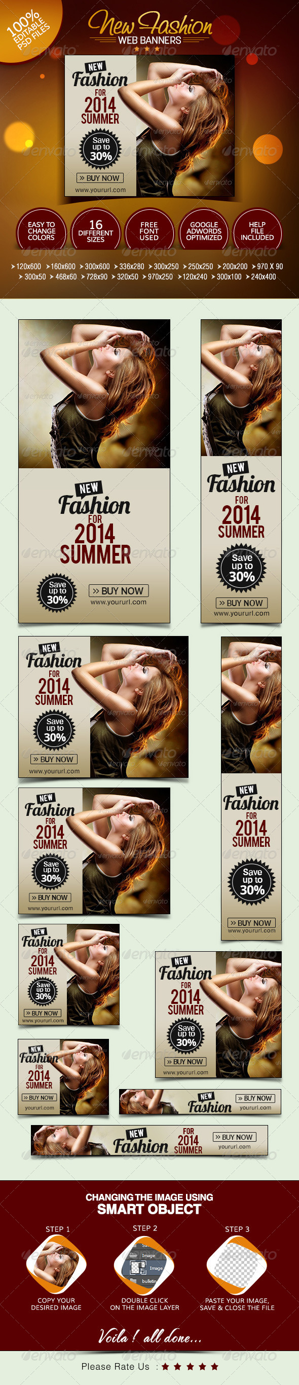 GraphicRiver Summer Fashion Banners 7755720